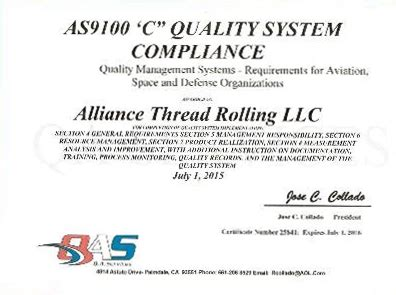 As9100 Compliance Auditor Cover Letter by As9100 Compliance As9100 Quality Management System Requirements For The Aerospace Industry