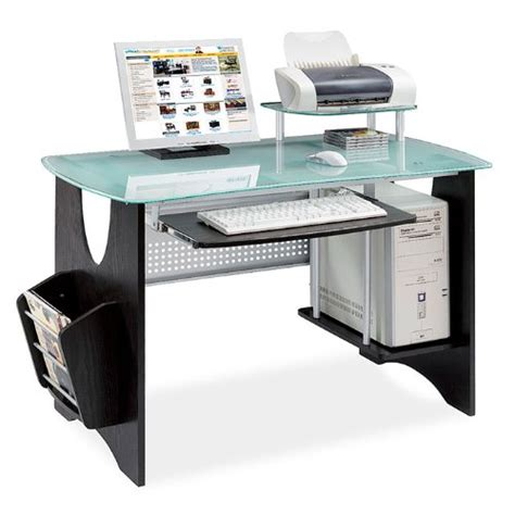 Cheap Glass Computer Desk Gt Cheap Espresso Frosted Glass Computer Desk Home Kitchen Shopping In Us