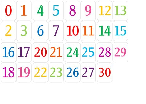 number chart 1 30 as educational learning to count kiddo