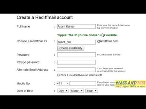Rediffmail Email Id Search Rediff