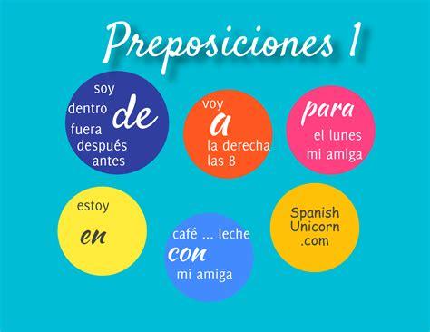 las locuciones en espaol 8476354754 preposiciones en espanol spanish unicorn