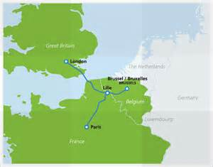Map with eurostar routes
