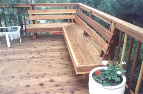 deck with built in bench wood working december 2014