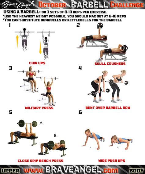 chart barbell workout chart