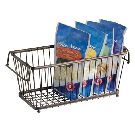 kitchen stackable pantry storage organizer basket 12 in