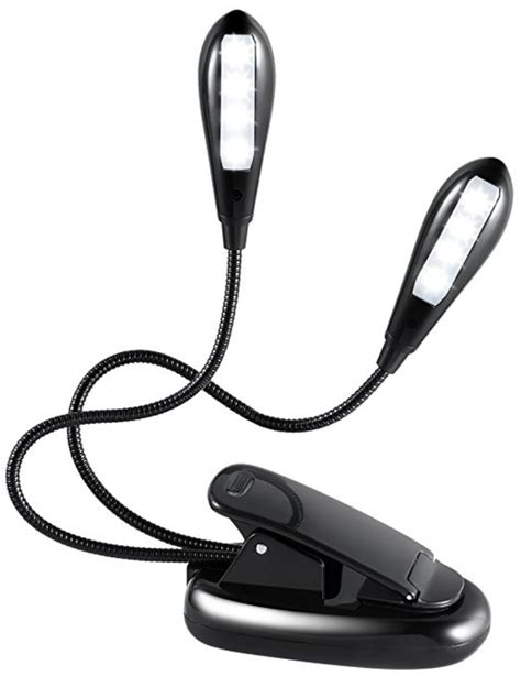 stand light clip on rechargeable clip on stand light with dual heads