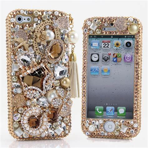 Luxury Made 3d Phone Cases Iphone 5 5s Big Rhinestone bling crystals phone for iphone 6 iphone 6 plus