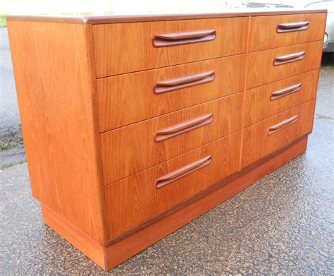 double chest of drawers furniture long teak double chest of drawers by g plan