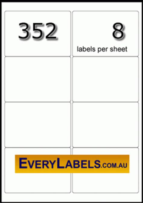 99 1 x 67 7 mm label template 352 rectangle white fluoro labels 99 1 mm x 67 7 mm
