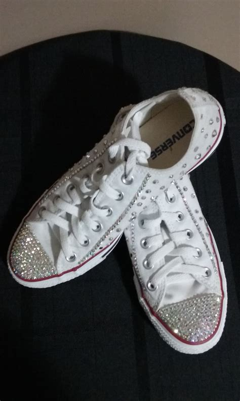 Wedding Sneakers by Bling Converse Wedding Sneakers The Knot