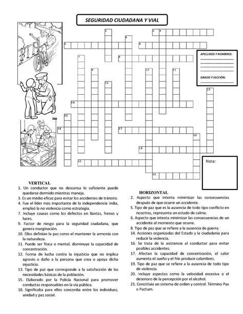 Calaméo - CRUCIGRAMA SEGURIDAD CIUDADANA Y VIAL