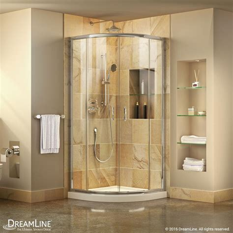 Bathroom Showers Stalls Dreamline Prime 33 In X 33 In X 74 75 In Framed Sliding Shower Enclosure In Chrome With