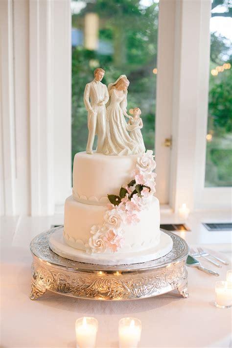 vintage couple  child wedding cake topper