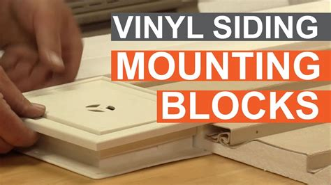 vinyl siding light mount tip of the week using vinyl siding mounting blocks youtube