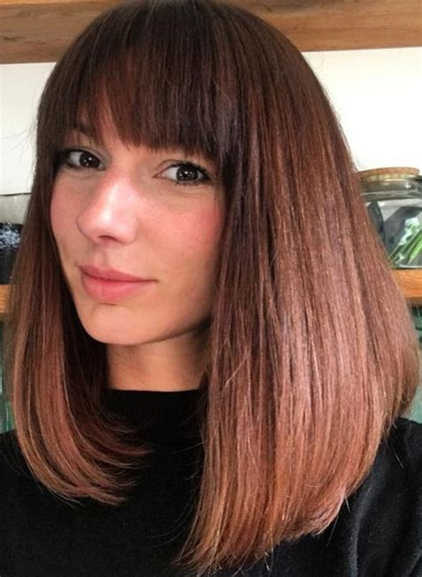 85 lob hairstyles celebrity inspired lob haircuts page 1 of 5 lob with bangs haircut haircuts models ideas
