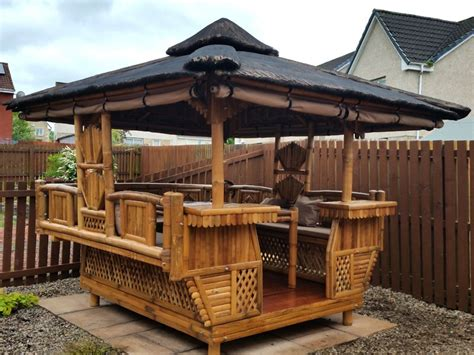 bamboo gazebo square 10ft x 10ft