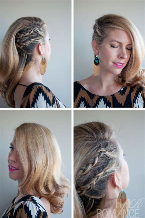 help parting hair for cornrows deep side parted faux undercut cornrow comb over braid