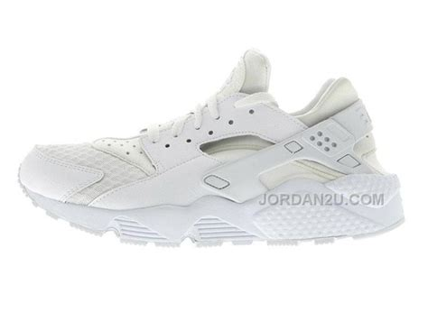 nike air huarache womens running shoes all white sneakers