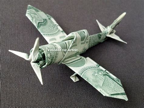 Dollar Origami Plane - zero fighter plane money origami dollar bill