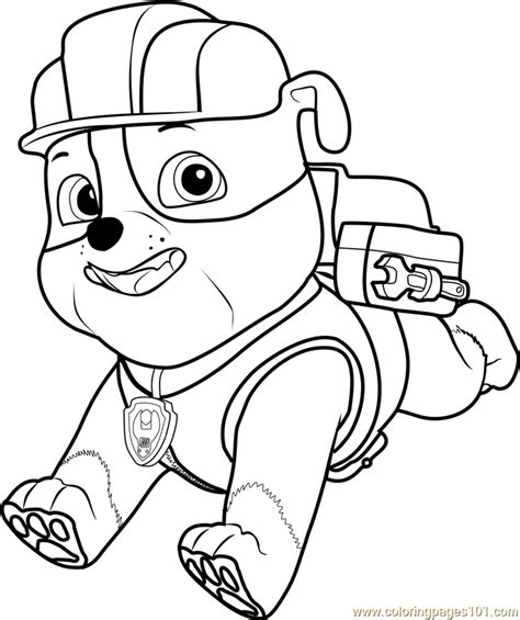 paw patrol coloring pages full size printable coloring pages paw patrol rubble rocky