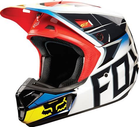 fox helmets motocross 190 68 fox racing v2 race mx helmet 199172