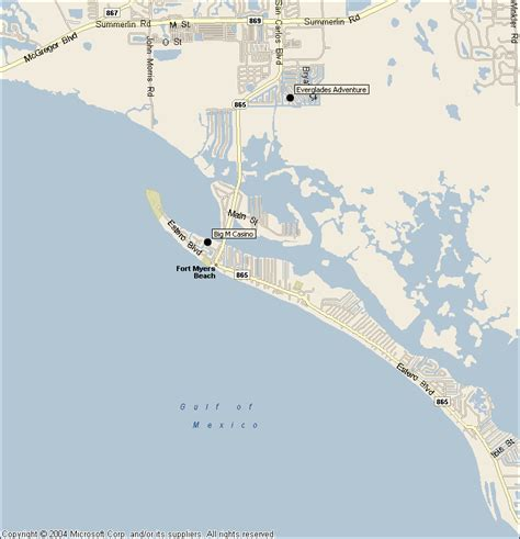 fort myers resort map fort myers florida attractions map find sights