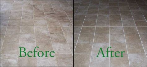 Grout Cleaning Before And After Cleansing Grout With Peroxide And Baking Soda Mosaic Flooring Tile Cleaning And Servicing Tutorial