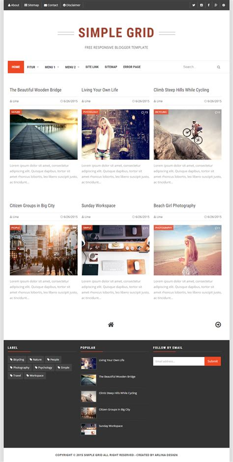 simple blog themes html top best free and premium blogger templates 2017 nayan