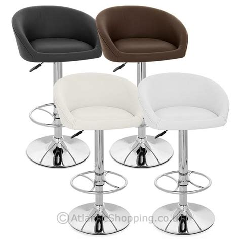 real leather breakfast bar stools zenith real leather chrome kitchen breakfast bar stool ebay