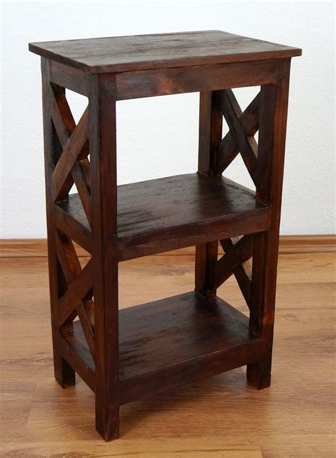 Buy Handmade Furniture - unique rustic bedside table handmade bali furniture