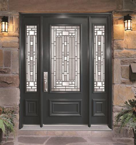 Contemporary Front Doors Steel Door With 2 Sidelites Naples Glass Models Portatec