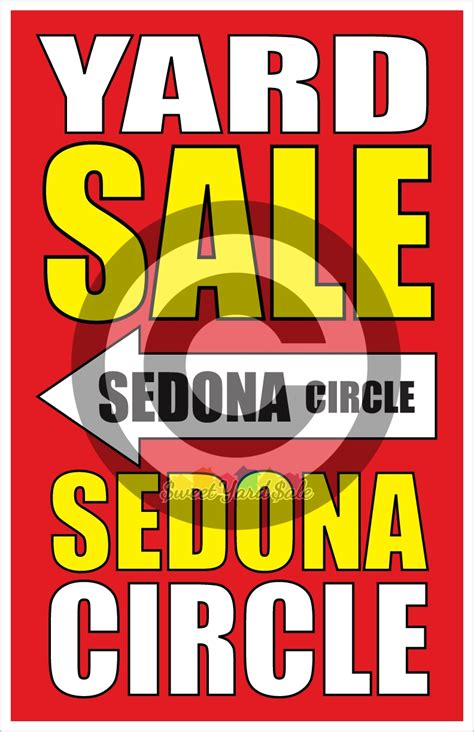Buy Garage Sale Signs by Set Of 10 Or 16 Customized Yard Sale Signs Tabloid Or
