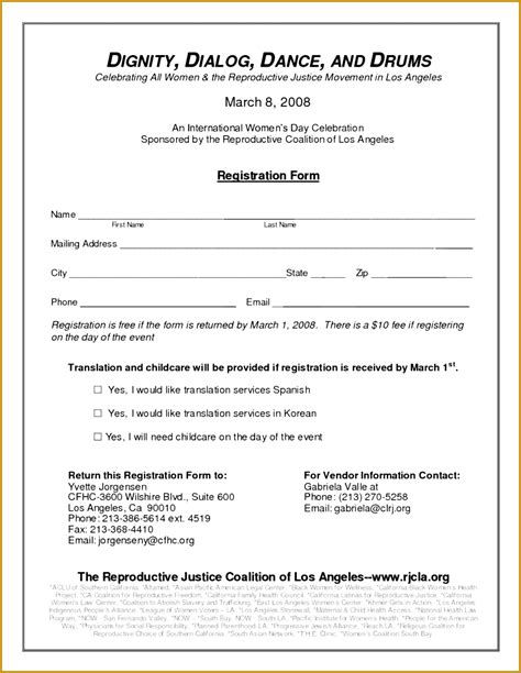 walkathon registration form template 3 walkathon registration form template fabtemplatez