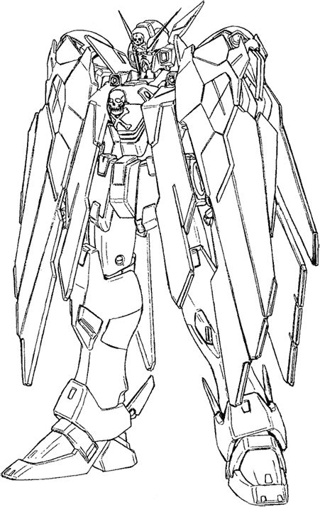 X2 Coloring Page by Crossbone Gundam Gears