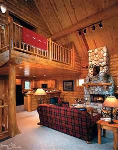 log home fireplace lakehouse cabin tiny house pinterest