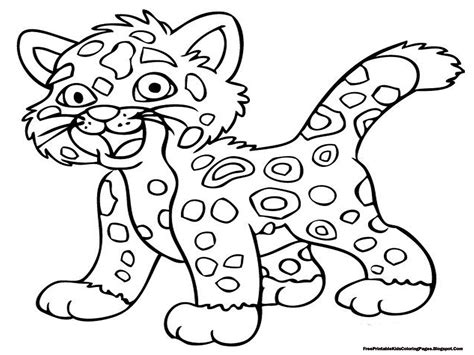 Jaguar Coloring Pages Free Printable Kids Coloring Pages Coloring Picture Of A