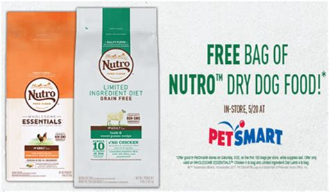 petsmart free bag of food free bag of nutro food at petsmart may 20th freebiefresh