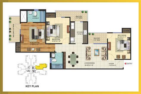 bhk flats  greater noida west  bhk   bhk flats