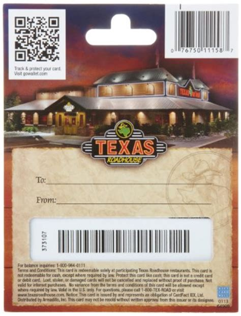 Gift Card Texas Roadhouse - texas roadhouse gift card 25 arts entertainment party celebration giving cards