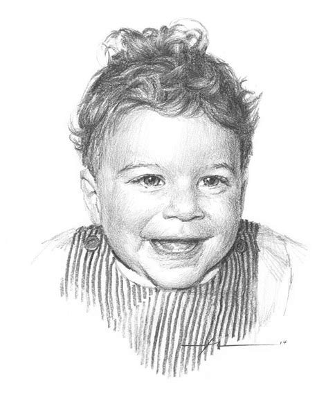 How To Draw Realistic Baby Hair curly hair baby boy pencil portrait drawing by mike theuer