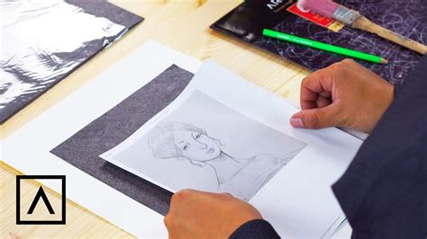 How To Make Graphite Transfer Paper - how to use graphite transfer paper