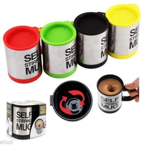 Self Stirring Mug Gelas Mixer Blender Aduk Sendiri Pengaduk Otomat gelas pengaduk otomatis mug self stirring 418 barang unik china barang unik murah grosir