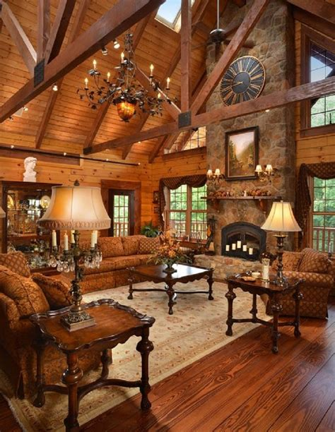 Log Home Interiors 22 Luxurious Log Cabin Interiors You To See Log Cabin Hub