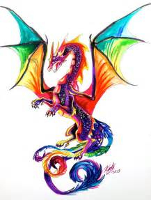 colors of dragons rainbow by lucky978 on deviantart