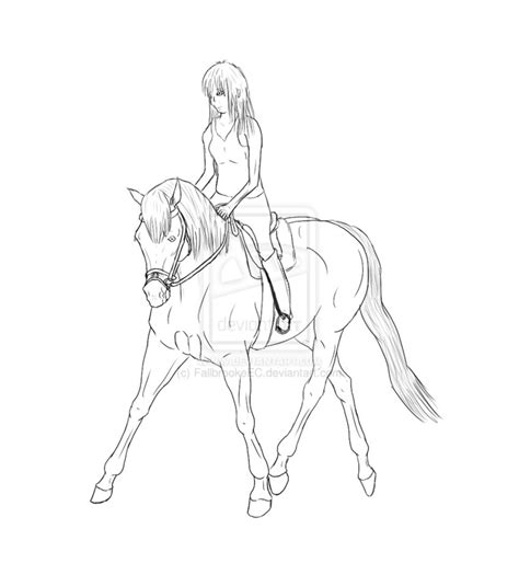horse trainer coloring page how to draw horse dressage