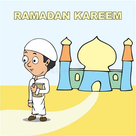 cartoon ramadan wallpaper ramadan kareem cartoon stock illustration illustration of