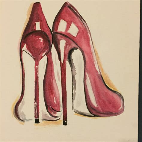 acrylic high heels items similar to my high heels 11 quot x14 quot painting