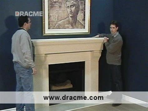 How To Remove A Fireplace Mantel by Less Than 1 Hour Installation Three Dracme Cast
