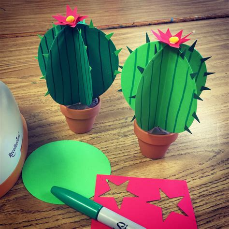 Paper With Children - paper cactus projects for