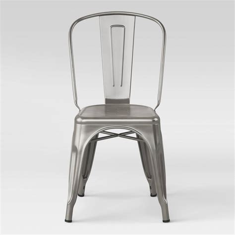 Carlisle High Back Metal Dining Chair With Wood Seat Carlisle Dining Chair